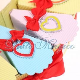 Bomboniere Offerta Torta Confetti con Ciondoli Vespe Colorate Compleanno