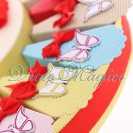 Torta Bomboniere Ciondoli Farfalle Colorate Compleanno