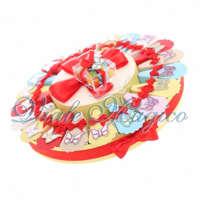 Torta Bomboniere Ciondoli Farfalle Colorate Compleanno Offerte Ragazza
