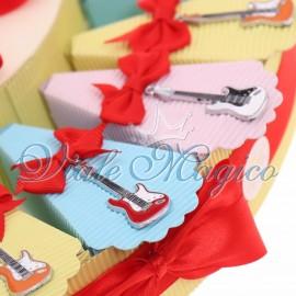 Torta Bomboniere Musicali Ciondoli Chitarra Elettrica Compleanno Offerta