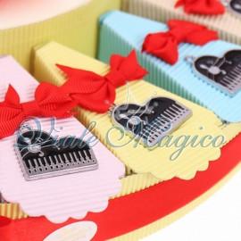 Torta Bomboniere Musicali Ciondoli Pianoforte Compleanno