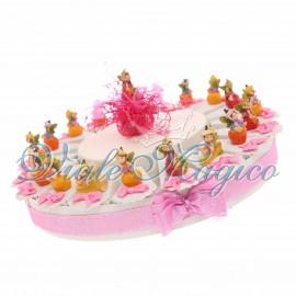 Torta Bomboniere Statuina folletto con Frutta Primo Compleanno 20 pezzi