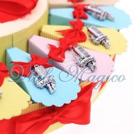 Torta Bomboniere Musicali Ciondoli Microfono Vintage Compleanno Offerte Confetti