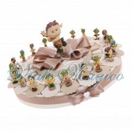 Torta Bomboniere 20 pezzi Portachiavi Folletti Misti colorati per Compleanno