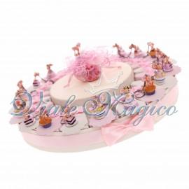 Torta Bomboniera 20 pezzi Portachiavi Topolino Cupe Cake Compleanno Bimba