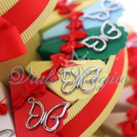 Torta Bomboniere Ciondolo Farfalla Silver Compleanno Ragazza Offerte