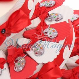 Torta Bomboniere Ciondolo Tavolozza Laurea Offerte Confettata Confetti