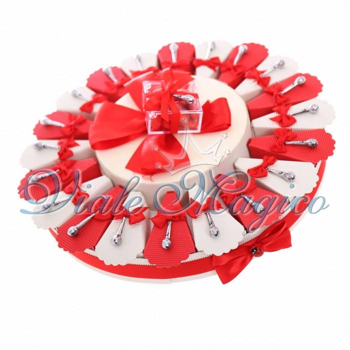 Torta Bomboniere Ciondolo Microfono Moderno Offerte Confettata