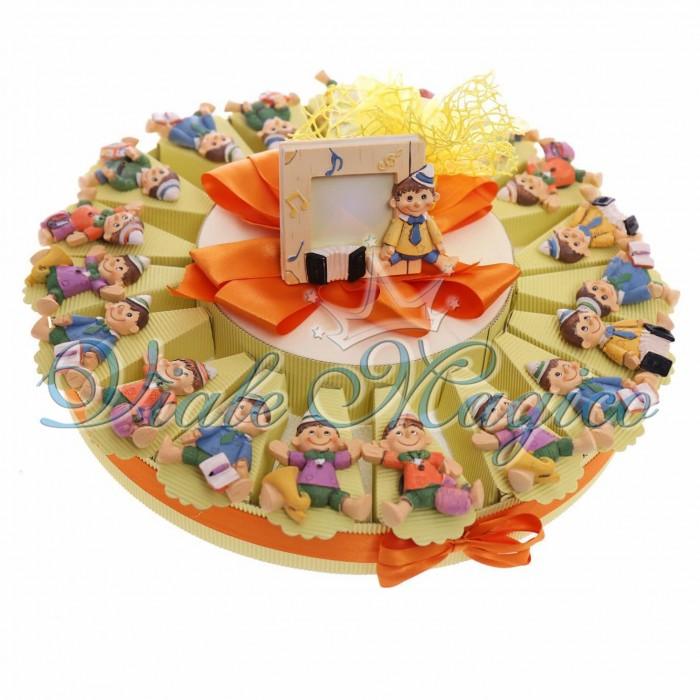 Estremamente Bomboniere Pinocchio con Calamita ideale per Primo Compleanno WE47