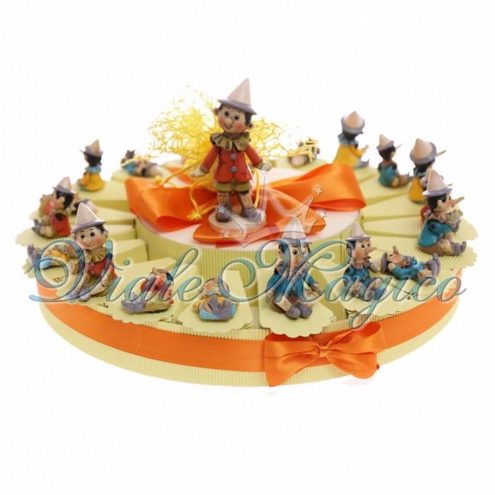 Bomboniere Offerta torta 20 pezzi Statuine Calamite Pinocchio Favola Bimbo Bimba