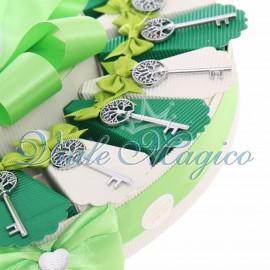 Torta Bomboniere Chiave Elegante Albero della Vita Matrimonio Promessa
