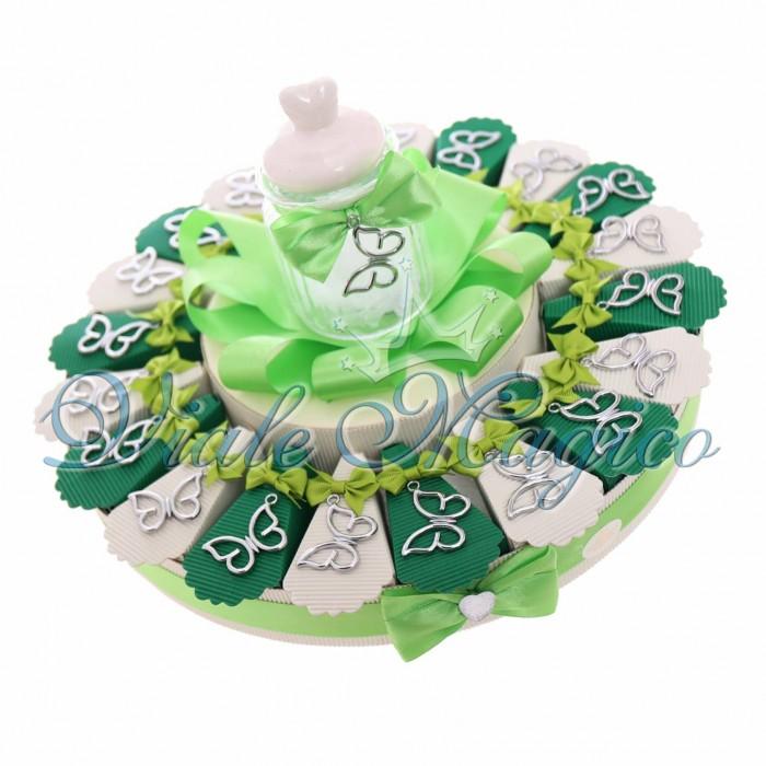 Torta Bomboniere Ciondolo Farfalla Silver Matrimonio Promessa