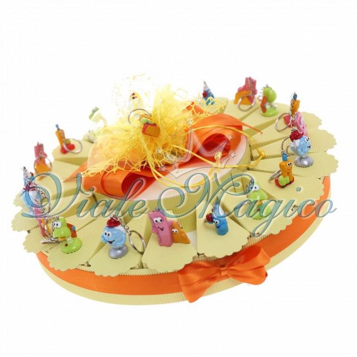 Torta Bomboniere Offerta Scrivania Compleanno Diploma Scuola Confetti Caramellata
