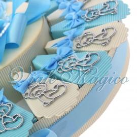 Torta Bomboniere Nascita Battesimo 1° Compleanno Ciondolo Orsetto Silver Bimbo