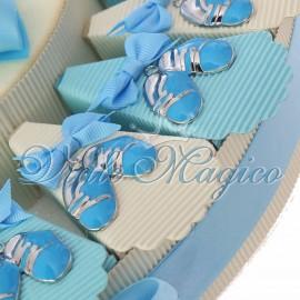 Torta Bomboniere Nascita Battesimo Primo Compleanno Ciondolo Scarpetta Bimbo