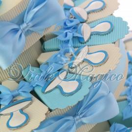 Torta Bomboniere Nascita Battesimo Primo Compleanno Ciondolo Biberon Bimbo