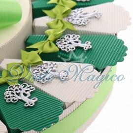 Torta Bomboniere con Ciondolo Albero della Vita Promessa di Matrimonio
