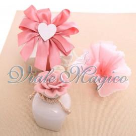 Bomboniere Matrimonio Profumatore con Rosa Porcellana Scatola da Cerimonia