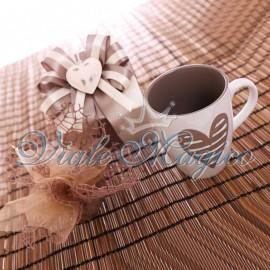 Bomboniera Matrimonio Tazza Mug Batticuore con Scatola da Cerimonia