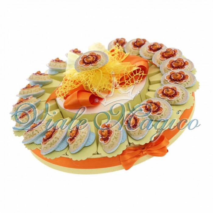 Torta Bombniera 20 Magnete Dessert Compleanno Segnaposto Festa Confettata