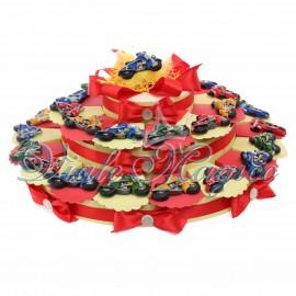 Bomboniere Torta con Magnete Motocilcetta Maxi Astucci Porta Confetti 30 pezzi