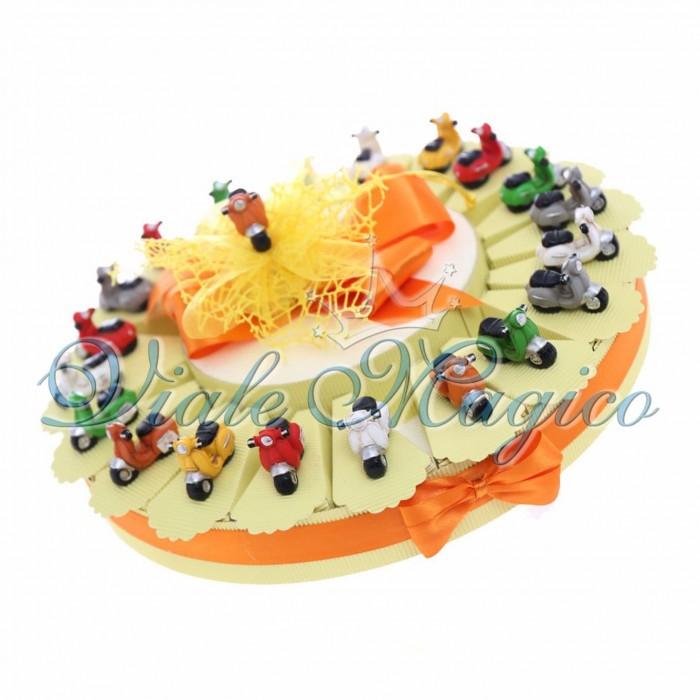 Bomboniere 20 pezzi Statuine Modellino Vespine Colorate Compleanno 18 Anni Festa Confetti Bouffet