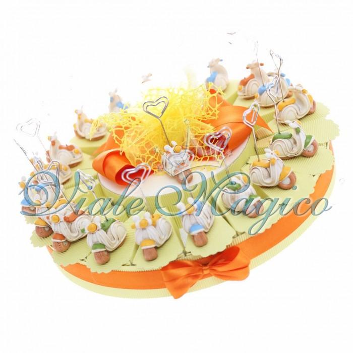 Bomboniere Torta Portaconfetti Vespette Vintage Compleanno Segnaposto 20 pezzi Sacchetto