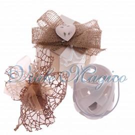 Bomboniere Matrimonio Promessa Lanterna in Porcellana con Scatola da Cerimonia