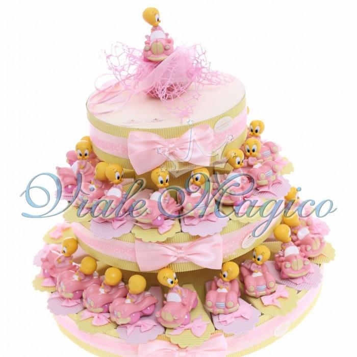 Torta Porta Confetti Statuina Titty Primo Compleanno Bambina 35 pezzi