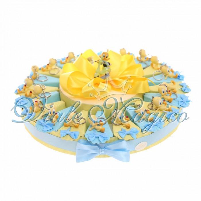 Torta Porta Confetti Portachiavi Titty Coccinella Primo Compleanno 20 pezzi Smarties Caramelle