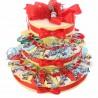 Torta Porta Confetti 35 pezzi Portachiavi Macchinina Compleanno 18 Anni Omaggio