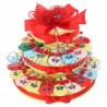Torta Porta Confetti 35 pezzi Portachiavi Libellula Strass Compleanno 18 Anni