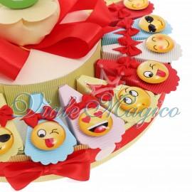 Bomboniere Compleanno Offerte Torta Confetti con Magnete Smile