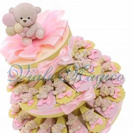 Torta Portaconfetti con Magnete Orsetto Peluche Bimba
