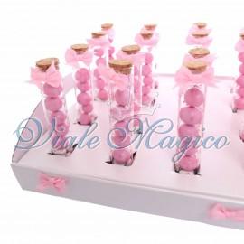 Bomboniere Nascita Battesimo Primo Compleanno Fialette Baby Bimba con Confetti