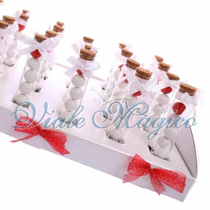 Bomboniere Nascita Battesimo Prima Comunione Cresima Fialette con Confetti per tutti gli Eventi