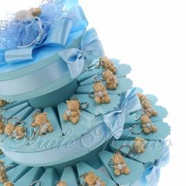 Torta Confetti con Portachiavi Gattino Bimbo in Offertissima