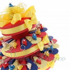 Bomboniere Compleanno 18 Anni Torta Confetti con Portachiave Vespa in Offertissima