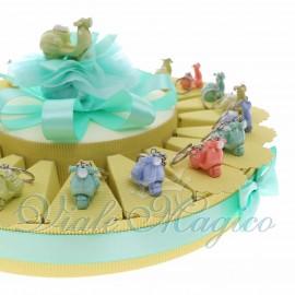 Torta Confetti con Portachiave Vespe Pastello in Offertissima