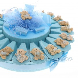 Bomboniere Nascita Battesimo Primo Compleanno Torta Confetti con Magnete Gattino Bimbo in Offertissima