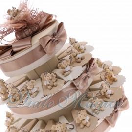 Torta Confetti con Portachiavi Elefantini Innamorati in Offertissima
