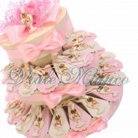 Torta Confettata con Appendino Calice Comunione Bimba