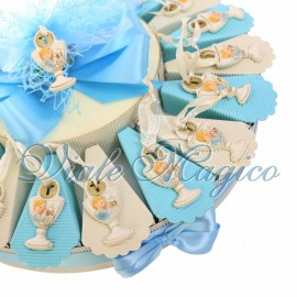 Torta Confettata con Appendino Calice Comunione Bimbo