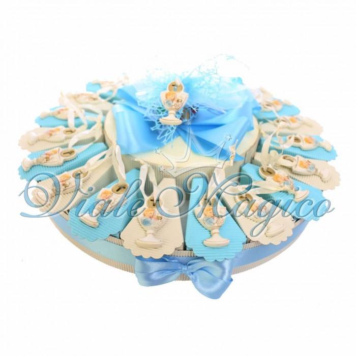 Bomboniere Online Offerta Torta Confettata con Appendino Calice Prima Comunione Bimbo