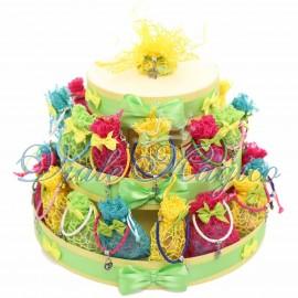 Bomboniere Compleanno Sacchetti Braccialetti Torta 30 Braccialetti con Sacchetti Colorati
