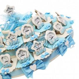 Maxi Torta Portaconfetti con Portafoto Baby Bimbo