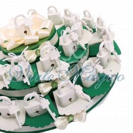 Maxi Torta Lucchetto dell'Amore Portafortuna Verde