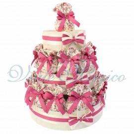 Bomboniere Online Prima Comunione Matrimonio Compleanno Torta 25 Eleganti Sacchetti Floreali