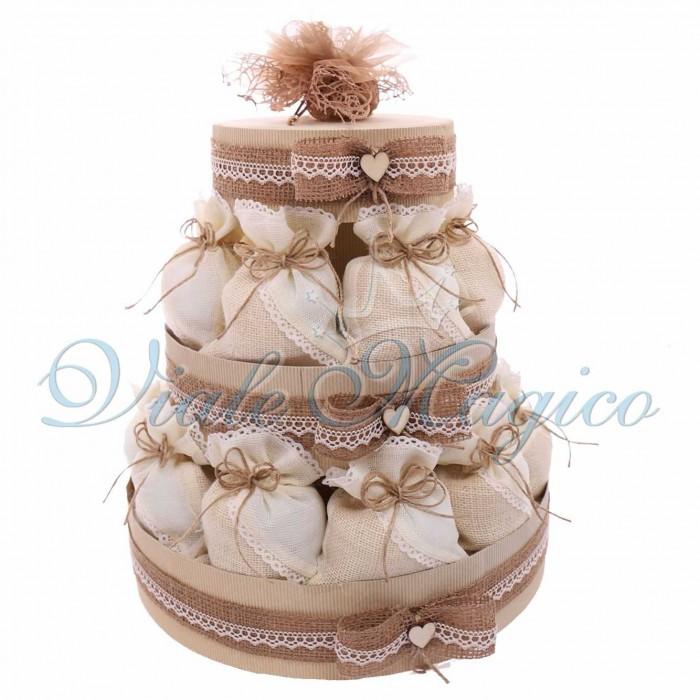 Estremamente Offerte Bomboniere Matrimonio Promessa Sacchetti Economiche Confettata NZ54