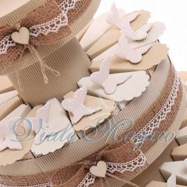 Bomboniere Matrimonio Sposi Segnaposto Offerte Torta Shabby Magnete Farfalle Bianche